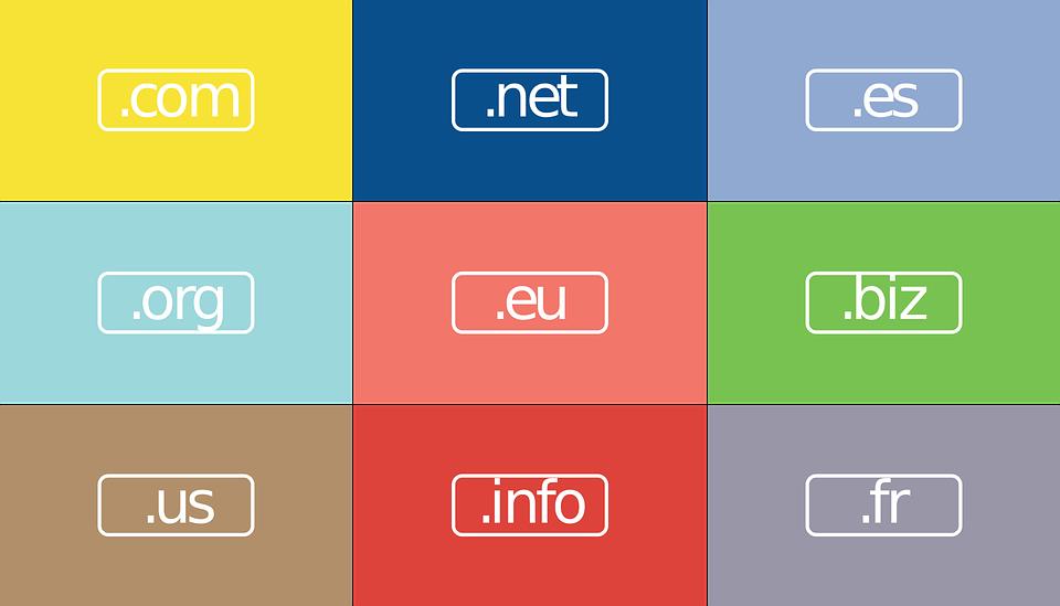 Izbira podaljška .net za našo domeno